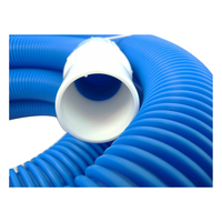 Aussie gold premier 13m vacuum swimming pool hose cuffed ends 2yr warranty ebay for Swimming pool vacuum hose ends