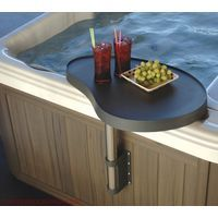 Spa Hot Tub Deluxe Tray Table Caddy Covermate Accessory Graphite Grey