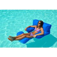 Neo Comfort Luxury Pool Lounger Blue - Oversized Pool Bean Bag Chair Lilo Float