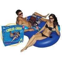 SwimSportz Cooler Combo Swimming Pool Lilo Lounger Inflatable Chair & Ice Bucket