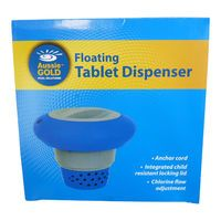 "DELUXE FLOATING CHEMICAL DISPENSER FOR 3"" CHLORINE TABLETS SWIMMING POOL & SPAS"
