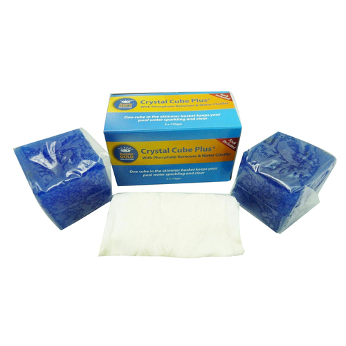Pool Water Clarifier Floc Cubes x 2 With Phosphate Remover & Skimmer Sock