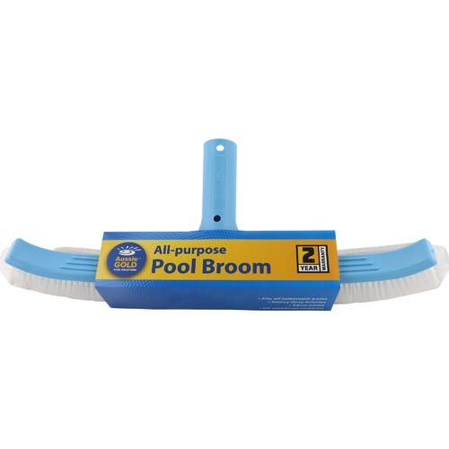 Pool Brush Aussie Gold 45cm Curved Pool Wall Brush Broom - 2 Year Warranty