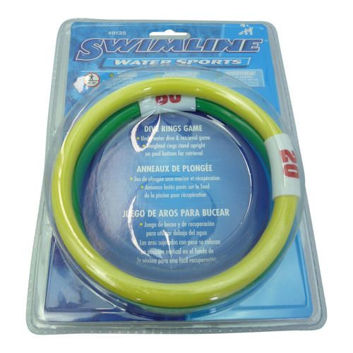 Dive Rings Swimline Swimming Pool Diving Rings Pool Toys - Numbered for Points