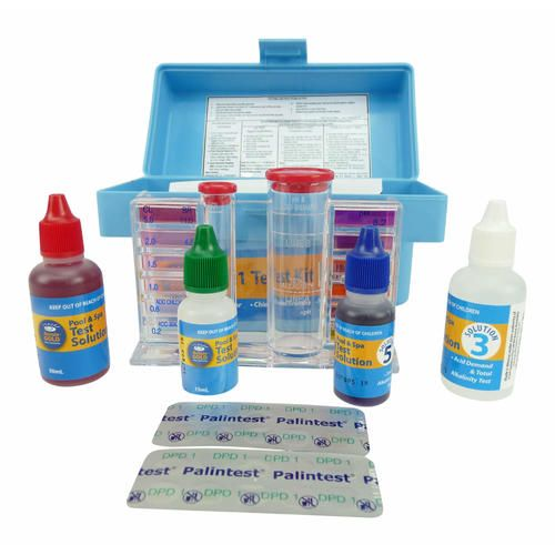 4 in1 Test Kit Professional Pool & Spa Water Test Kit Chlorine/Bromine PH TA